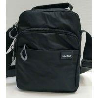 Мужская тканевая  сумка Lanpad  (чёрная) 21-05-028