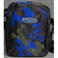 Мужская спортивная сумка через плечо (чёрная-камуфляж) 16-06-005