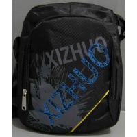 Мужская спортивная сумка через плечо (чёрная с надписью) 16-06-006