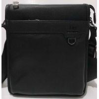 Мужская кожаная сумка-планшет Bretton (чёрная) 20-07-048