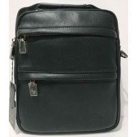 Мужская кожаная сумка-планшет Bretton (чёрная) 20-07-049