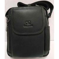 Мужская кожаная сумка Bretton (чёрная) 20-07-05