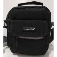 Мужская тканевая  сумка Lanpad  (чёрная) 20-07-052
