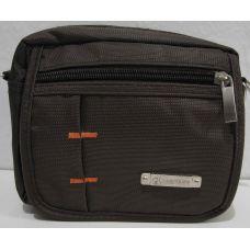 Мужская  тканевая сумка (коричневая)  18-06-056