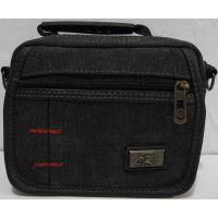 Мужская  джинсовая  сумка (чёрная)  18-06-059