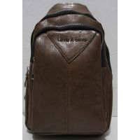 Мужская сумка-бананка через плечо (рыжая) 19-01-001