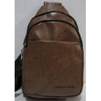 Мужская сумка-бананка через плечо (рыжая) 19-01-002