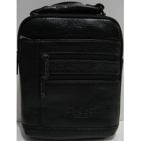 Мужская кожаная сумка (чёрная) 19-03-017