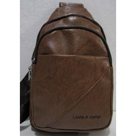 Мужская сумка-бананка через плечо (рыжая) 19-03-034
