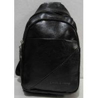 Мужская сумка-бананка через плечо (чёрная) 19-03-034