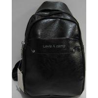 Мужская сумка-бананка через плечо (чёрная) 19-03-035