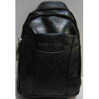 Мужская сумка-бананка через плечо (чёрная) 19-03-036