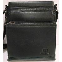 Мужская кожаная сумка Bretton (чёрная) 20-01-085