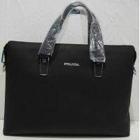 Мужской кожаный портфель (чёрный) 18-06-122