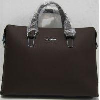 Мужской кожаный портфель (коричневый) 18-06-122
